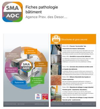 Les FICHES « PATHOLOGIE du BATIMENT » de la SMA et AQC